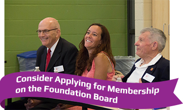 Consider Applying for Membership on the Foundation Board